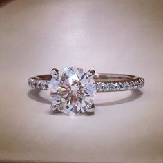 The perfect ring! Custom made engagement by Plumb Gold Ltd.