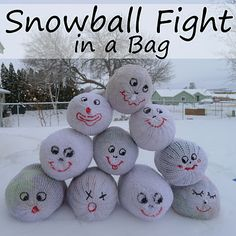 Snowball Fight in a Bag...funny gift idea