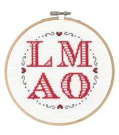 Say It! in cross stitch-LMAO