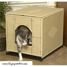 Love this wicker kitty litter box, so much better looking that regular boxes.