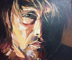 Nigel, acrylic on canvas.