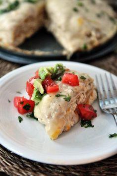 Mel's Kitchen Cafe | Green Chile Chicken Enchilada Stack