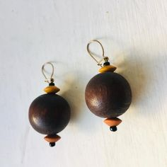 Vintage Dangle wooden Beaded Earrings Vintage Earrings Brown   Etsy Wooden Jewelry, Wooden Beads, Vintage Earrings, Vintage Jewelry, Pink Fruit, Bead Jewellery, Hippie Jewelry, Rose Earrings, Beaded Rings