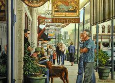 Robert W Cook – Saturday On The Square – watercolor http://fineartamerica.com/featured/saturday-on-the-square-robert-w-cook-nws.html