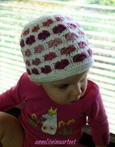 virkattu sydänpipo - crochet heart beanie