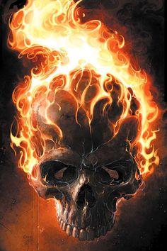 Skull on fire...
