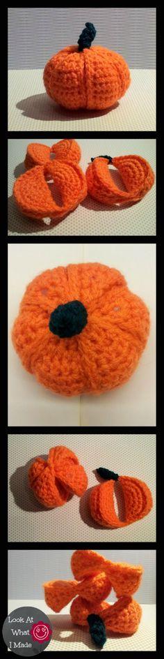 Crochet Pumpkin Segment Ball Pattern Crochet Pumpkin Segment Ball. Amamani toy