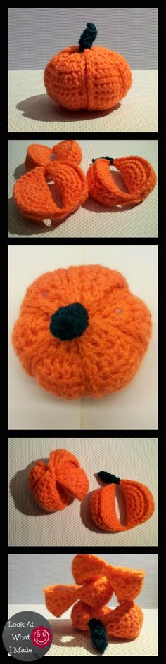 Crochet Pumpkin Segment Ball Pattern Crochet Pumpkin Segment Ball. Amamani toy
