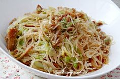 Fried Bee Hoon With Cabbage And Stewed Pork