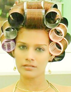 Big Hair Rollers, Wet Set, 80s Hair, Roller Set, Curlers, Beauty Shop, Cosmetology, Hair Dos, How To Take Photos