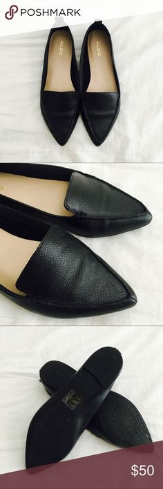 aldo flats aldo frantoto flats in black pebbled leather. used once! extremely comfortable soft leather but too small for me. no trades, make an offer. Aldo Shoes Flats & Loafers