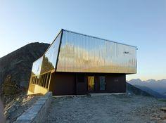 New Tracuit Mountain Hut. Location: Zinal, Switzerland; architect: Savioz Fabrizzi Architects.