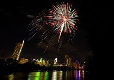 """Get down to Auditorium Shores before 8:30pm to hear the Austin Symphony preform the """"1812 Overture"""" before the barrage of fireworks drown out the music around 9:30pm."""