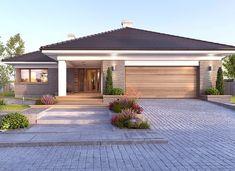 Nela V - zdjęcie 4 Best House Plans, Modern House Plans, Modern House Design, Small Apartment Plans, Modern Bungalow House, Modern Bungalow Exterior, House Outside Design, Architectural Design House Plans, Beautiful House Plans