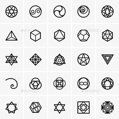 Sacred Geometry Icons — Vector EPS #star #geometry • Available here → https://graphicriver.net/item/sacred-geometry-icons/8866786?ref=pxcr