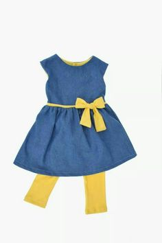 Immink's party dress, denim with jersey trim. Party Dress, Summer Dresses, Denim, How To Make, Kids, Inspiration, Clothes, Fashion, Dress Party