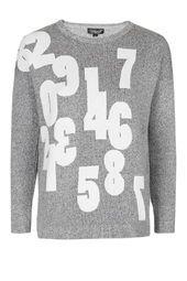 Numbers Knitted Sweatshirt