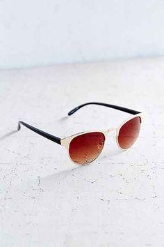 Painted Round Sunglasses