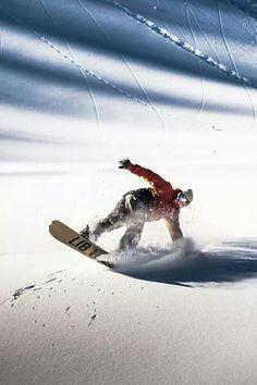 Stunning oriental snowboarder