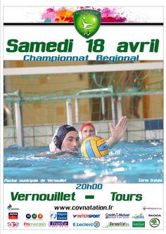 18/04/2015 Rencontre du CO #Vernouillet face à #Tours en #waterpolo #ffn