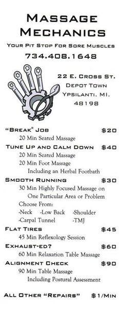massage studio in Downtown Ypsilanti, MI. I love this place!