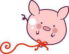 Pig Balloon by SaradaBoru