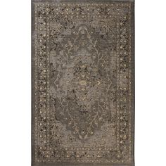 Safavieh Palazzo Black/ Cream Rug (5' x 8') (PAL128-16217-5), Size 5' x 8' (Polypropylene, Oriental)