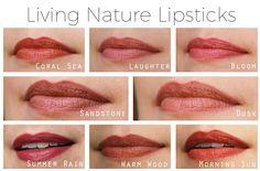 Living Nature Organic Lipstick Swatches