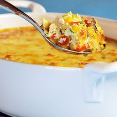 spicy corn pudding--fresh sweet corn