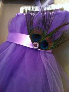 Peacock Feather Flower girl tutu dress. $40.00, via Etsy. by laura