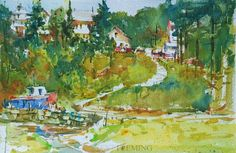 5th Street Studio, Steve Fleming. Maine. This guy demonstrated at our Annapolis Watercolor Club and is awesome!