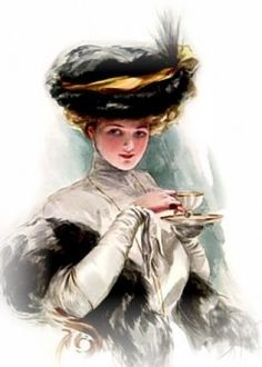 "Afternoon tea was invented by Anna Duchess of Bedford (1783-1857), one of Queen Victoria's ladies-in-waiting. At the time, the noble classes ate large breakfasts, small lunches & late suppers. Every afternoon, Anna reportedly experienced a ""sinking feeling,"" & so requested tea & petite-sized cakes to be served. Many followed the Duchess' lead, & the ritual of afternoon tea was born."