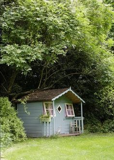 Little house under the trees.
