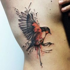 New tattoo geometric bird tatoo 58 Ideas Robin Bird Tattoos, Bird Tattoo Ribs, Swallow Bird Tattoos, Phoenix Bird Tattoos, Little Bird Tattoos, Tattoos Of Birds, Bird Tattoos For Men, Bird Tattoo Back, Arrow Tattoos