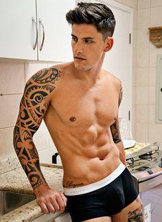 Men with Nipple Rings