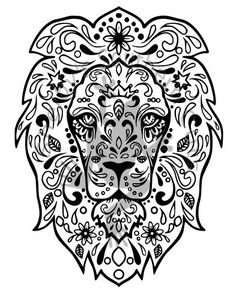 Lion Mandala Animal Coloring PagesColoring Pages For AdultsFree BooksFree