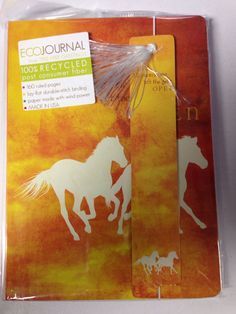 Eco friendly journal $19.95 www.ponyupequestrian.com Eco Friendly, Moose Art, Recycling, Journal, Stitch, Paper, Gifts, Painting, Animals