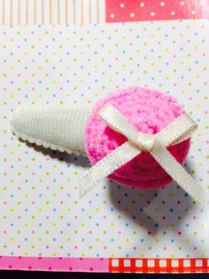 mini cupcake hairpin