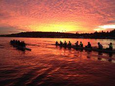 University of Washington Rowing, Seattle sunset