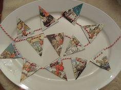 Mini Garland Vintage Bunty Bunting Party by BigGirlSmallWorld