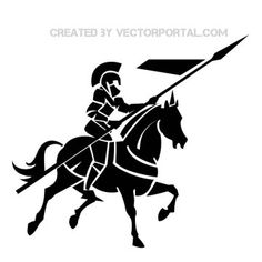 - get free, high quality medieval black knight clipart on Hddfhm Knight On Horse, Knight Art, Horse Illustration, Halloween Silhouettes, Horse Logo, Horse Silhouette, Medieval Knight, Celtic Art, Free Illustrations