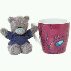 Me To You Tatty Teddy Mug and Small Teddy Wearing Patterned T-Shirt, Pink Tatty Teddy, My Coffee, Teddy Bears, You Got This, Mugs, Shirt, Pattern, Pink, How To Wear