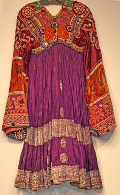 Afghan Dress--perhaps I wouldn't want this many different colors on MY Afghan dress, but I love the design