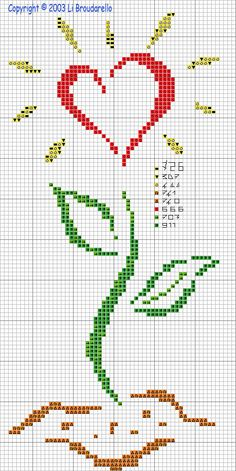 flower cross stitch. stitch this with the quote: love blooms where kindness is planted