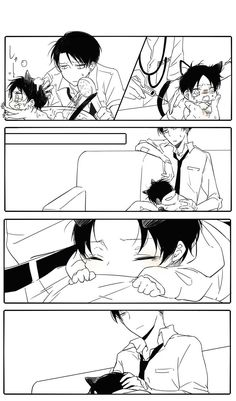 Image discovered by Neko-chan. Find images and videos about shingeki no kyojin, neko and levi on We Heart It - the app to get lost in what you love. Attack On Titan Comic, Attack On Titan Ships, Attack On Titan Fanart, Ereri, Beddinge, Tous Les Anime, Eren Y Levi, Armin, Anime Boyfriend