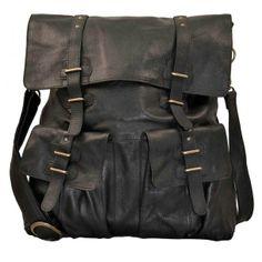 Sade Large Leather Bag Black