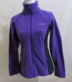 Columbia Women Purple Fleece Full Zip Up Jacket Size Small #Columbia…