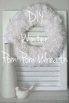 Easy Winter Pom Pom Wreath