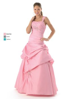 Simple  Burlington Coat Factory Long light pink dress