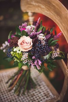 Fall Purple Wedding bouquet via Rebekah J.Murray Photography / http://www.himisspuff.com/fall-wedding-bouquets-for-autumn-brides/4/
